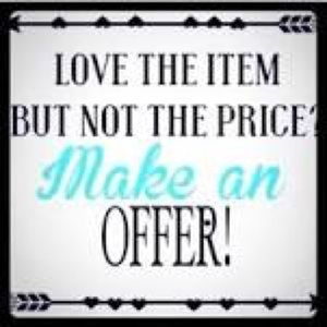 Love the item but not the price? Make an offer! ❤️